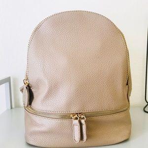 Handbags - Mini Contemporary Vegan Leather Backpack - Taupe
